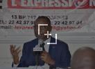 Le ministre des Transports Amadou Koné face à la presse dans le cadre de la tribune d'échange du quotidien l'Expression